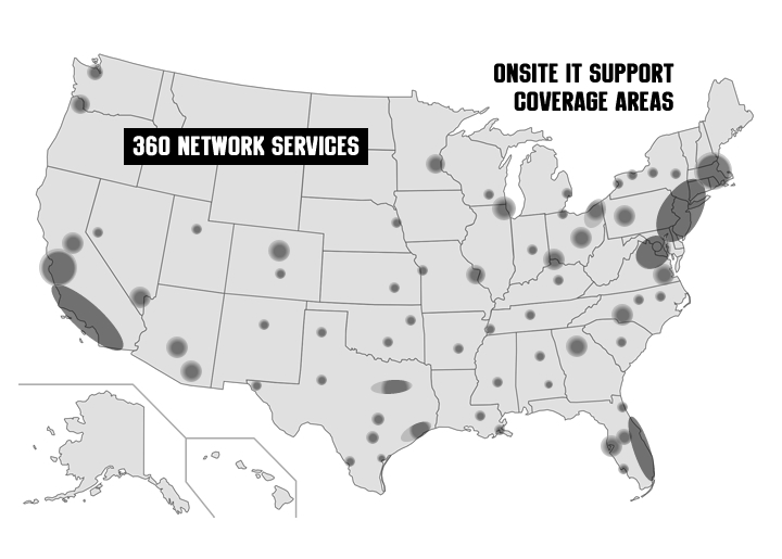 360 Network Services US Coverage Areas
